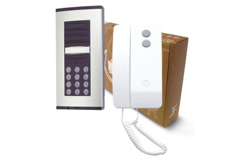The BPT Hardwire One Way Audio Entry Phone System with Built-in Keypad