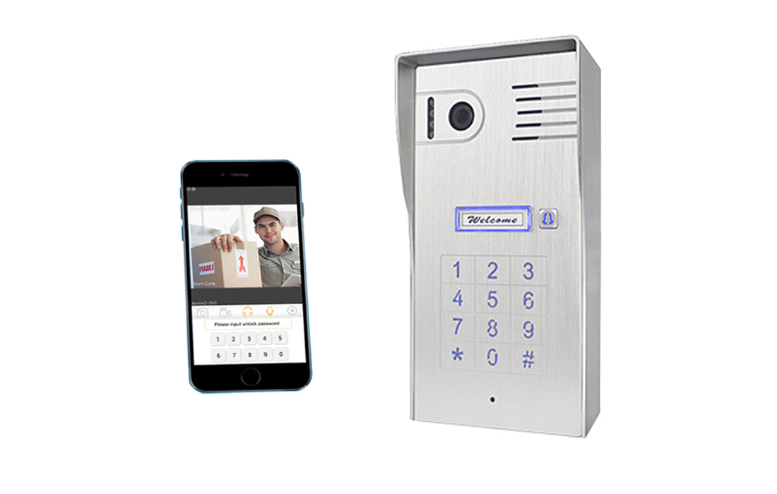 WiFi Intercom With Built-in Keypad (Surface mounted)