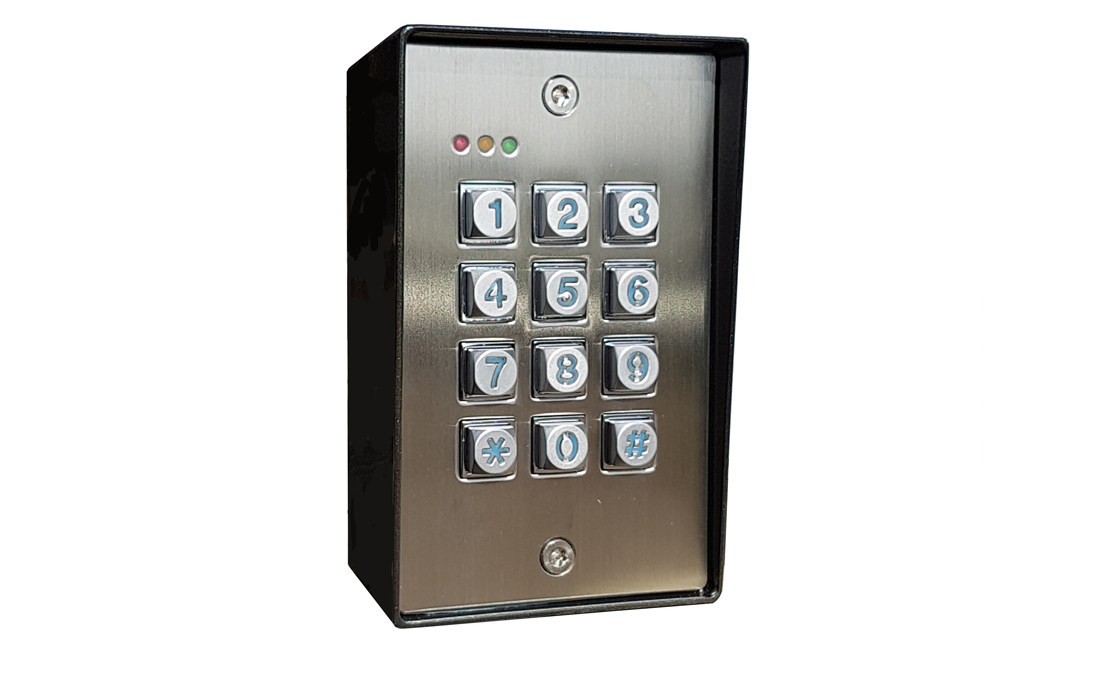 Stainless steel backlit keypad