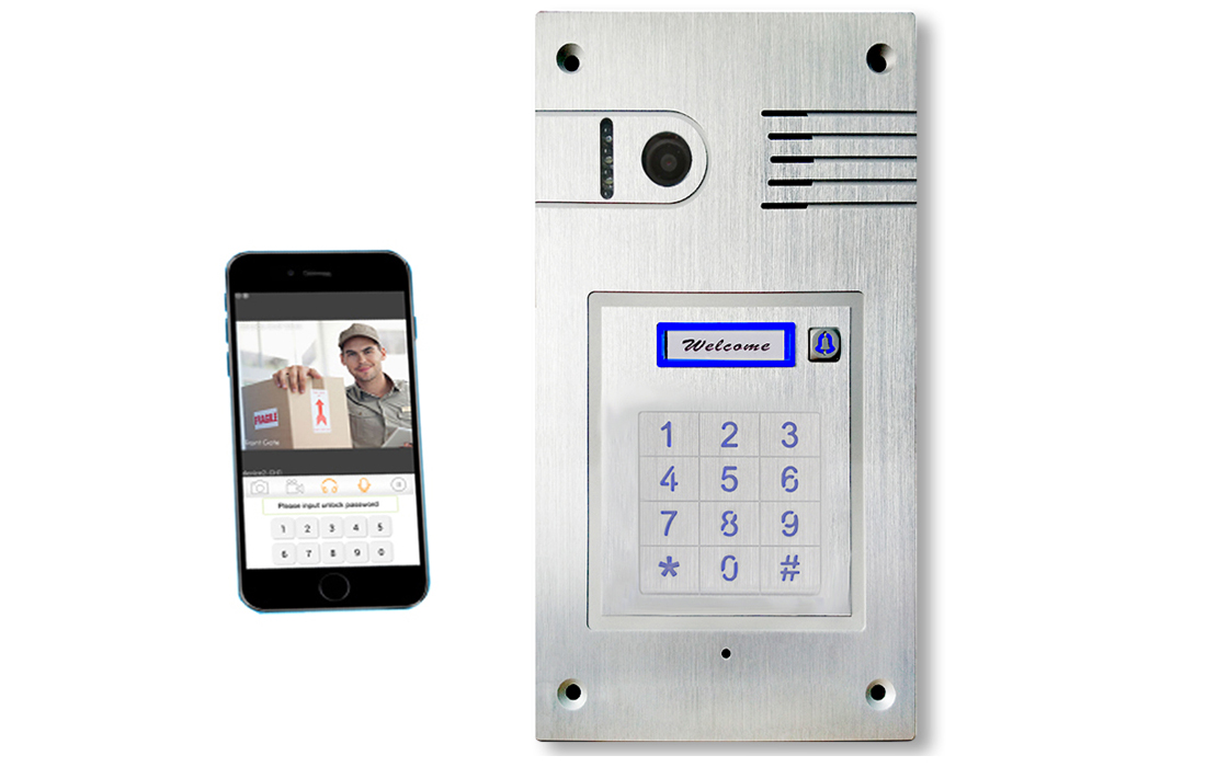 WiFi Intercom With Built-in Keypad (Flush Fit)