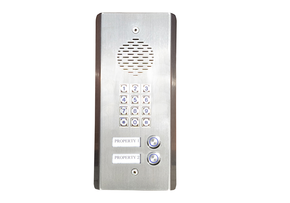 2 Button GSM Intercom with Back-lit Keypad 3G