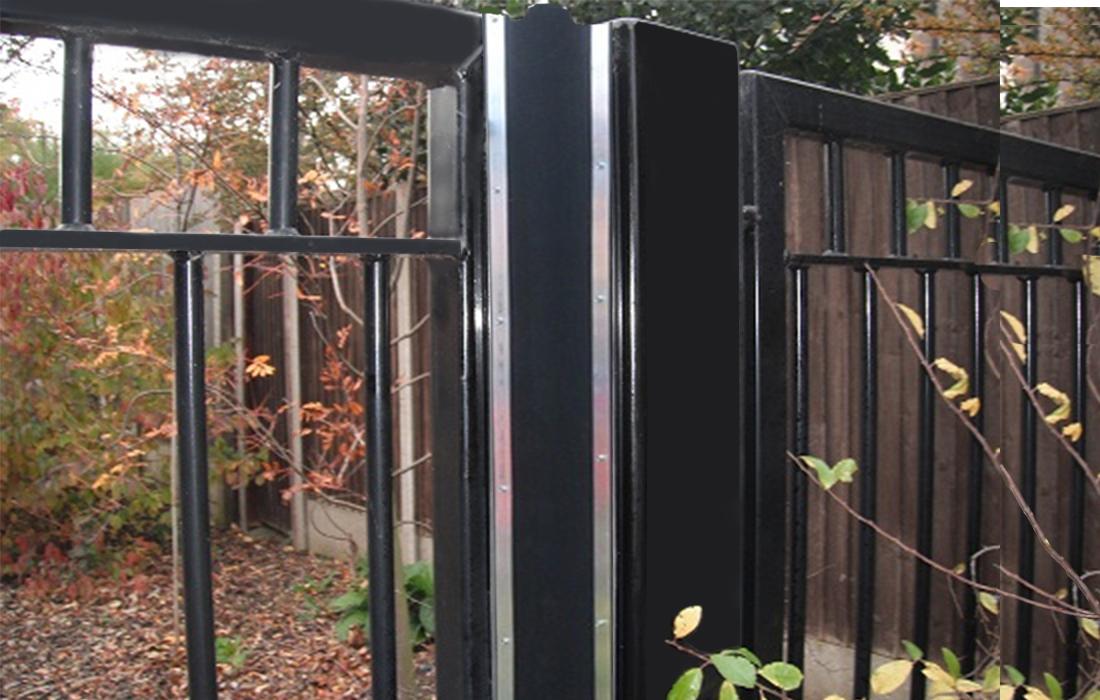 Electric Gate Hinge Guard