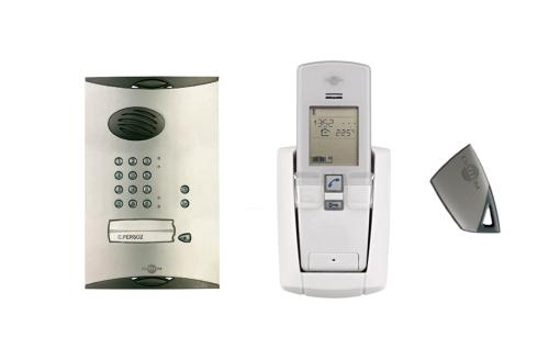 One way wireless entry phone system complete with proximity reader and access control keypad