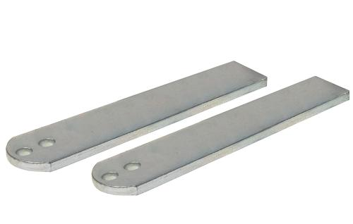 Pair 210mm long weld-on brackets for the Jet motors (pier end)